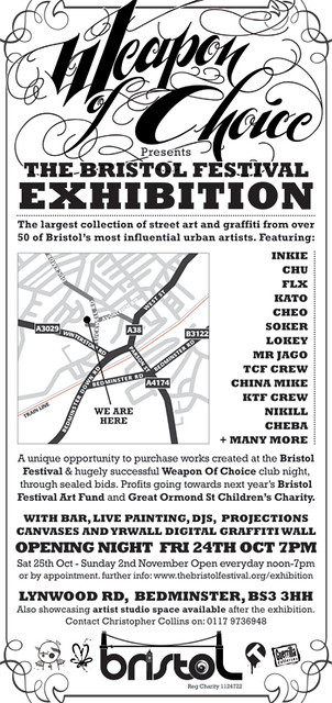 Weapon Of Choice presents: The Bristol Festival Exhibition