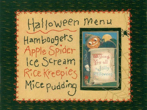 halloween menu on light