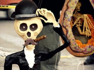 Dia de muertos en el Zócalo