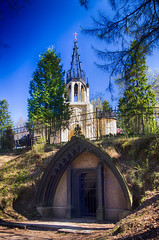 Neogothic Church of St. Peter and Paul, Shuvalovsky park, St.Petersburg. 1831.