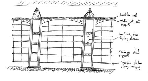 Art Deco Bookcase Design Version 1 Greg Pyes Blog