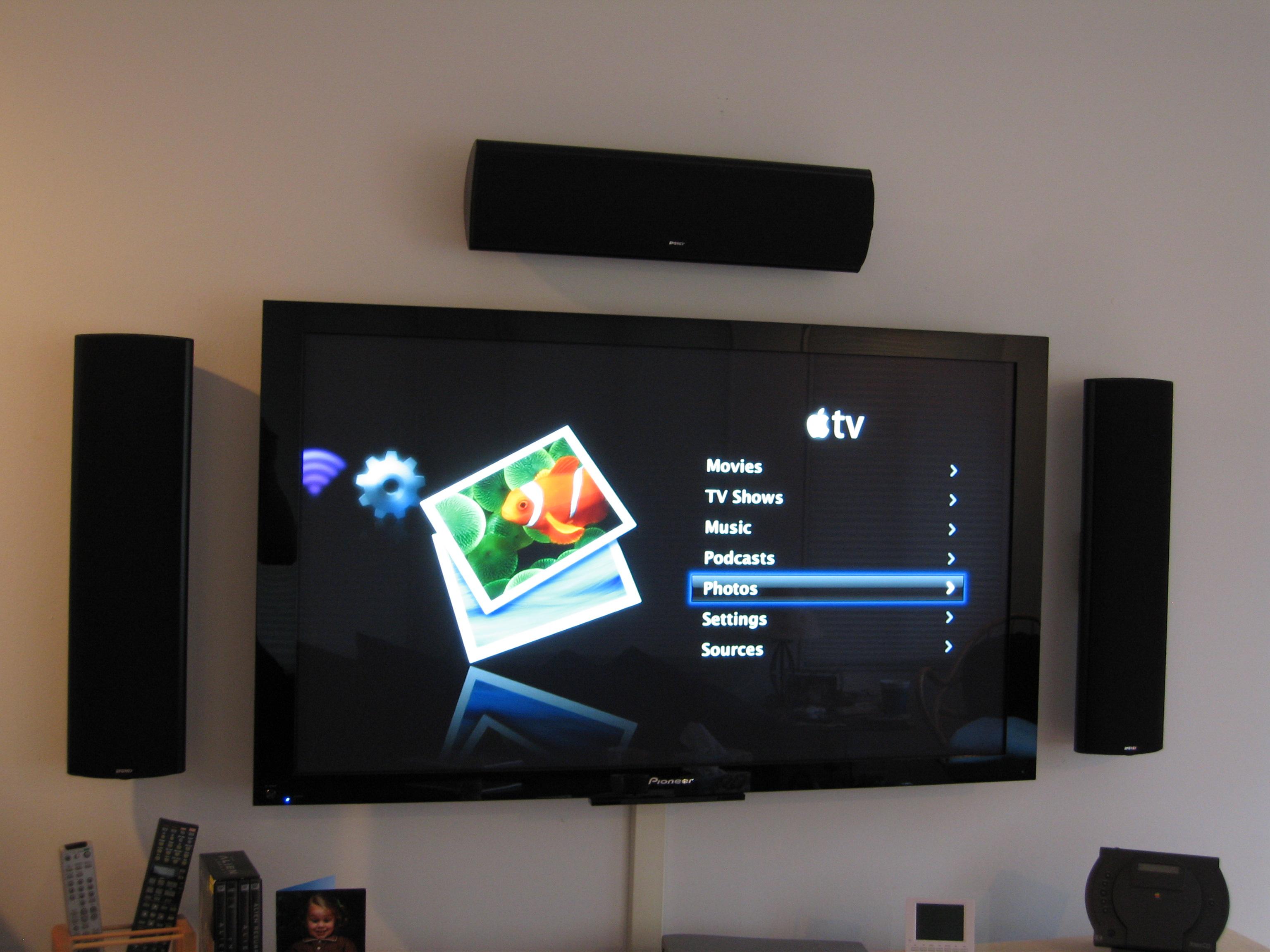 Apple Tv On The 50 Inch Pioneer Plasma Explore Blakespot