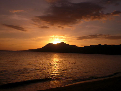 sunset in lobo, batangas