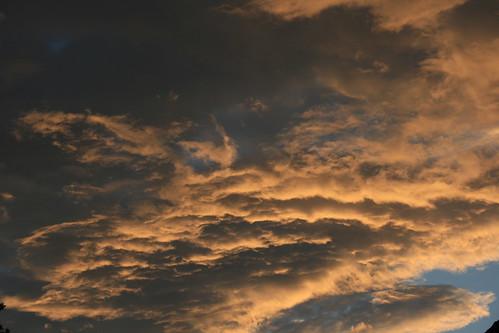 sunset sky orange clouds canon 400d canon400d