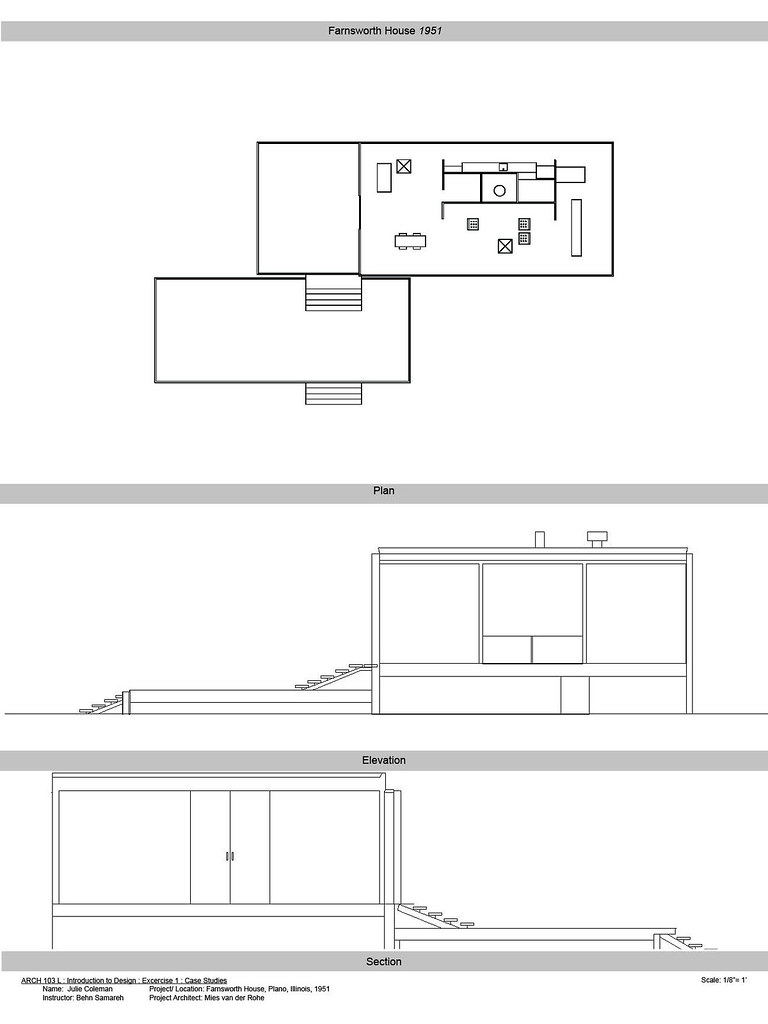 Farnsworth House Floor Plans Wood Floors