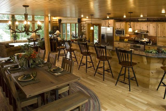 Log home kitchen explore golden eagle log homes 39 photos for Log home kitchens gallery