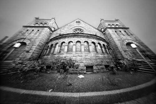 Bellefield Presbyterian Church Through a Pinhole