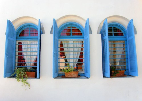 Greek monastery windows