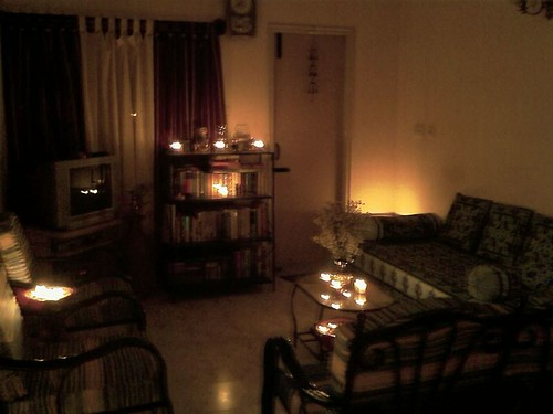 Candle Lit Living Room Candle Lit Living Room At Home On