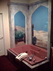 the tub at lithia springs resort in Ashland Oregon