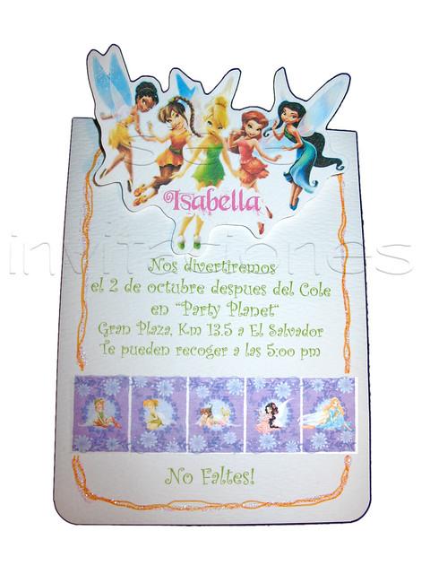 disney fairies tinkerbell invitacion personajes resaltados de todo ...