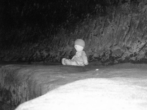 Little Rosie's Doll in the haunted cellars of the Salutation Inn Nottingham