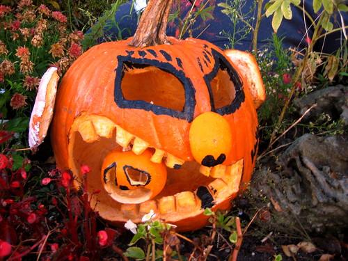 Cannibal Pumpkin eats unfortunate coworker.