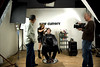 Behind the scenes at Hair Cuttery Alexander Ovechkin photo shoot