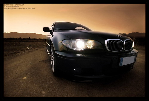 BMW serie 3 cabriolet - sunset big face