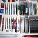 Graphite pencils mechanical pencils and leadholders collection and accessories close up 3