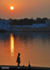 Sunset in pushkar India