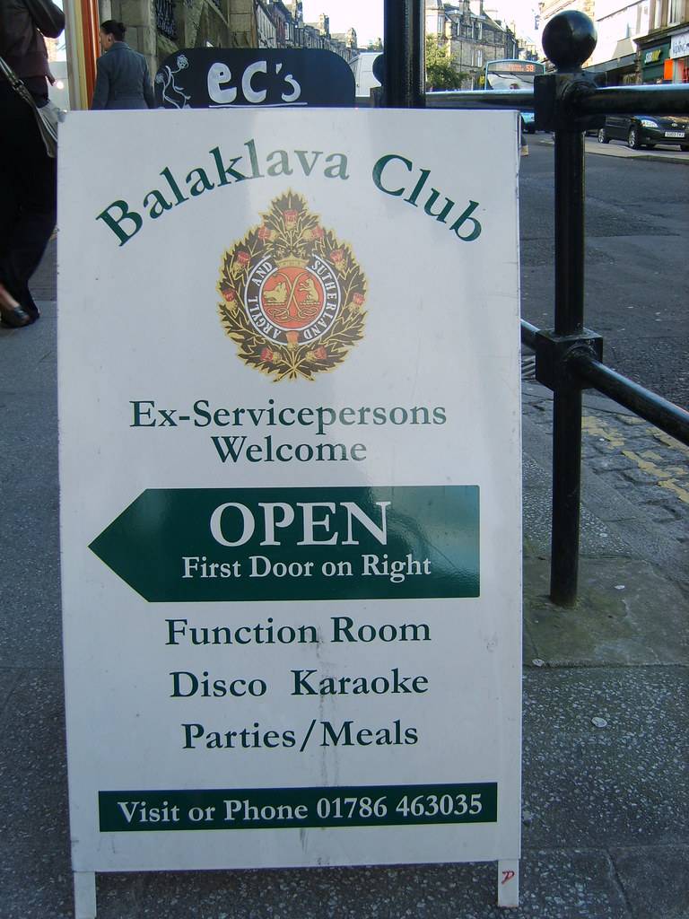 Balaklava Club sign inviting you in for a drink