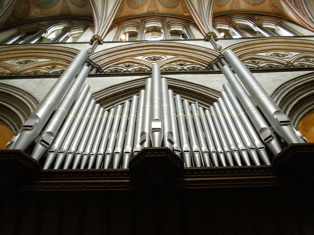 Photo:Salisbury Cathedral. Organ North Side. By amandabhslater
