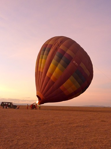 Hot air balloons, Maasai Mara, Kenya