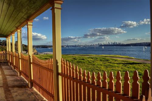 view sunny australia nsw sydneyharbour 1858 picket lightkeeperscottage mygearandme mygearandmepremium mygearandmebronze