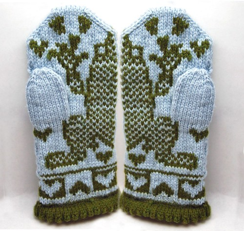 Kiss that Frog Mittens - palm side