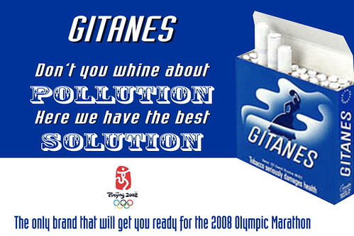 Gitanes will get you ready for the Beijing Olympic Marathon