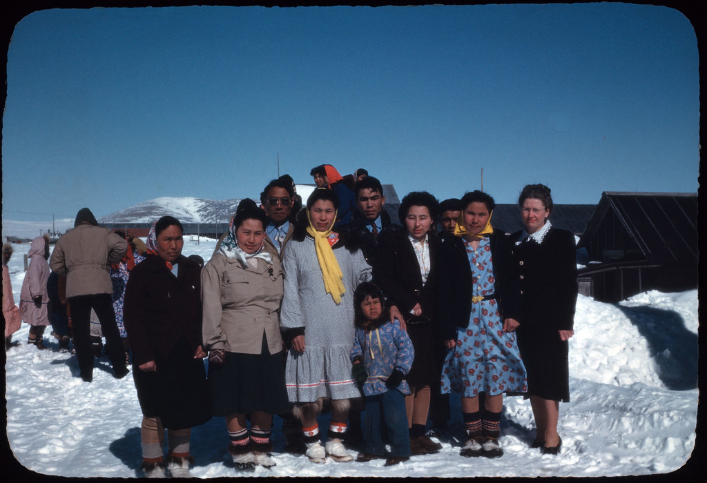 55 Bertha Stedje and group, Teller, April 23 1949