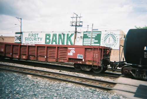 A former Conrail gondola car in tow. Elmwood Park Illinois. May 2008. by Eddie from Chicago