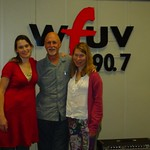 Nerissa and Katryna Nields at WFUV with John Platt
