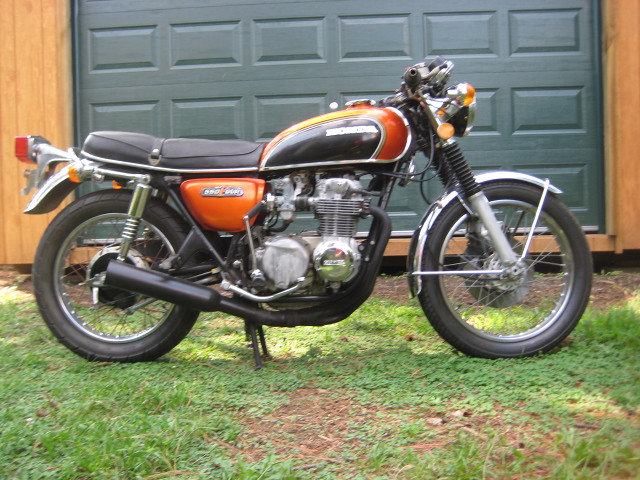 my new 1973 honda cb 550 four 46 flickr photo sharing. Black Bedroom Furniture Sets. Home Design Ideas