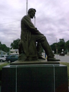 Looking North at The Lincoln Monument of Wabash, Indiana by Charles Keck. Photo taken on August 2, 2008