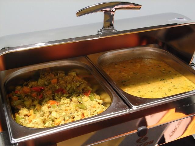 Verduras Mixtas y Gambas al Curry