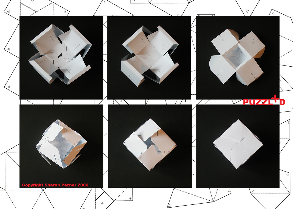 3d cube puzzle - cube folding instructions
