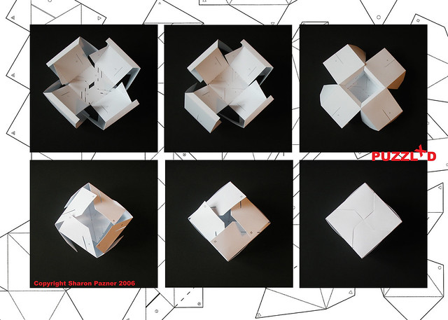 3d cube puzzle - cube folding instructions | From a series o ...