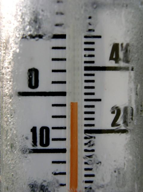 thermomètre sous 0