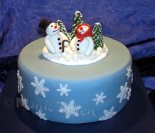 fondant winter cakes