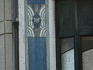 2403 art deco detail, san francisco