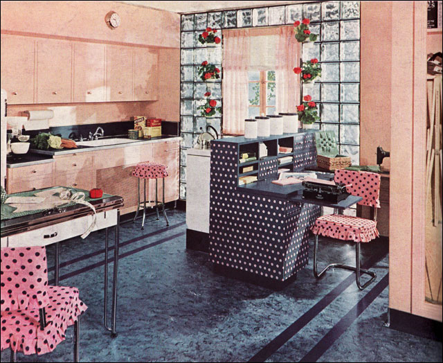 1940 Armstrong Polka Dot Kitchen