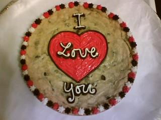I Love You Cookies I Love You Cookie Cake