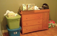 furniture, changing table, room, chest of drawers,