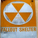 Nuclear Fallout Shelter sign, New York City, New York, United States of America