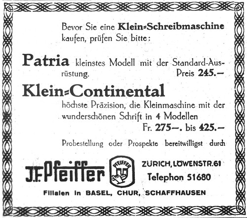 Patria portable and Klein-Continental