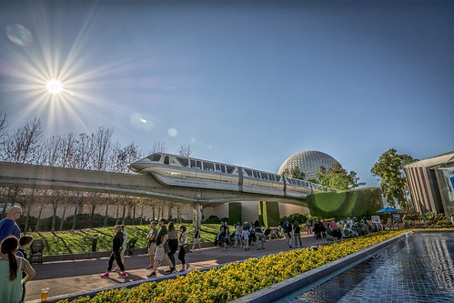 Monorail in the sun