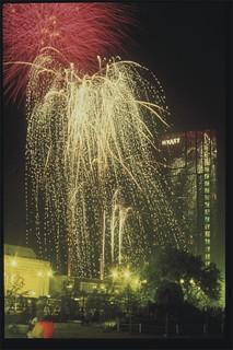 Fantastic Fireworks in Centenary Square, Birmingham