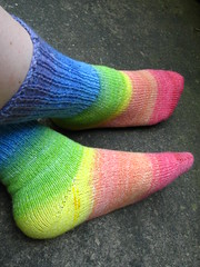Rainbow Socks knit with Tiger Twist
