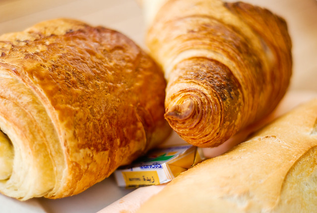croissant pain au chocolat beurre