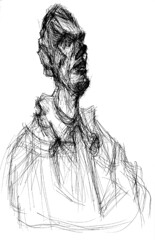 "Giacometti ""bust of Diego"" 3/4 drawing"