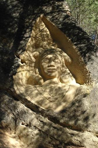 Cara de Krishna Ruta de las Caras, arte y naturaleza fundidos en un abrazo común - 2980765563 a35d344e56 - Ruta de las Caras, arte y naturaleza fundidos en un abrazo común