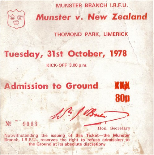 Munster All Blacks Thomond